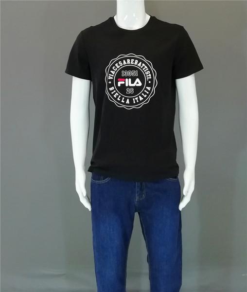 Moda Marka Erkek Kadın Yaz T Gömlek Mektuplar Baskı Yüksek Kalite Erkekler Marka T Gömlek Casual Tees Erkek Giyim Boyutu S-2XL # 2