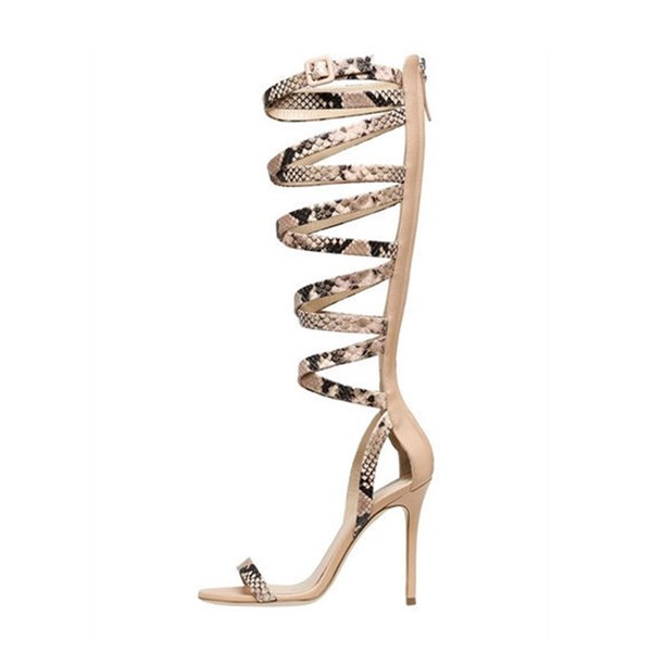 Hot2019 High Shoes High-heeled Package Open-toed Sandals With Will Code 4243 Woman Boots