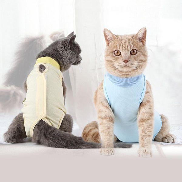 Pet Female Cat Breathable Sterilization Suit Surgical Gown Ablactation Clothes Set