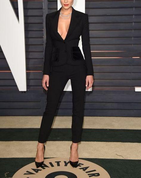 Black Women 2 piece suit pants suit for work interview