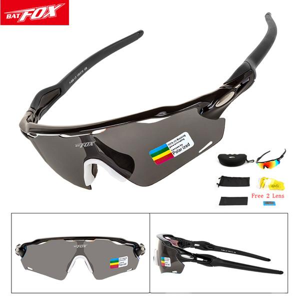Polarizada Deportes hombres que completan las gafas de sol protección UV400 Correr Esquí Golf Ciclismo Gafas 3 oculos lentes intercambiables