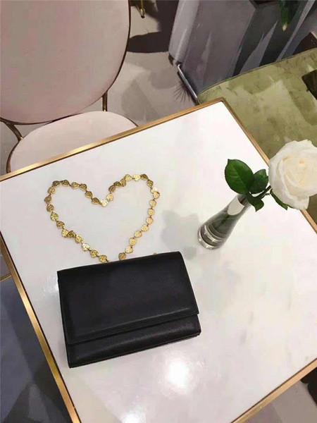 Tasarımcı lüks çanta çanta kalp modeli altın zincir kayış kadın tasarımcı çanta moda kılıf omuz crossbody çantalar 2019 yeni Y çanta