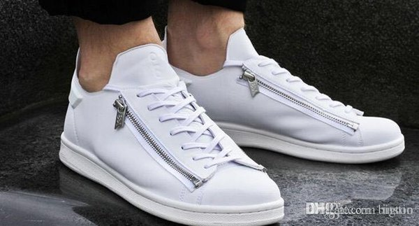 2016 new mens Y3 Stan Smith Zip Trainers,personality Men and women sneakers,further luxury products from the designer range,Leather Shoes