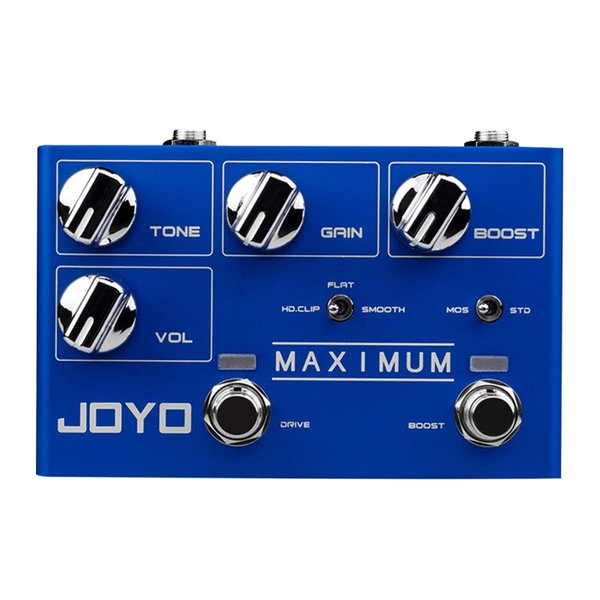 JOYO R-05 MAXIMUM Guitar Effects Pedal Dual Channel Overdrive Sound High Ultra Long Sustained Electric Guitar Monoblock Effect