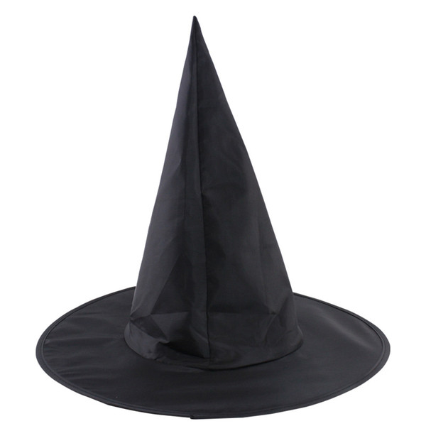 Black Oxford Burst Seal Hood Harry Potter Magic Hat Halloween Witch Hat All Black Wizards Hats 23g