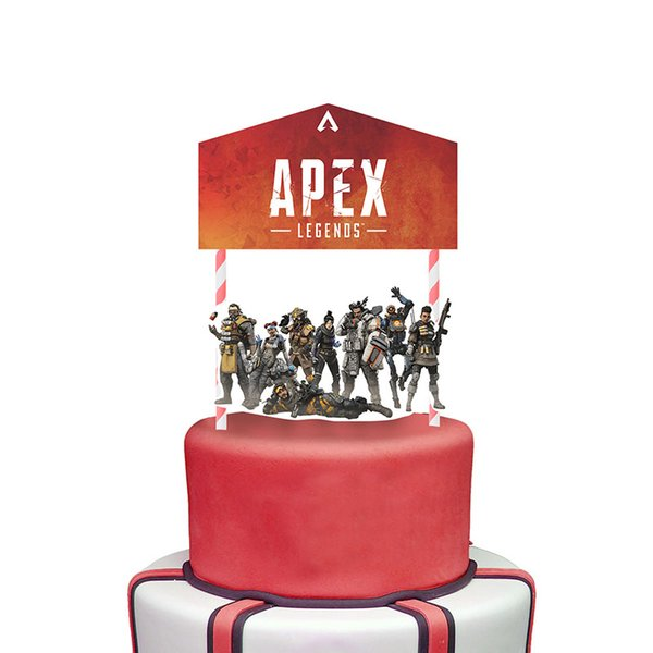 Apex Legends Cupcake Picks Cake Toppers Cartoon cake Inserts Card Christmas Party Gifts for Kids Birthday Decor C6603