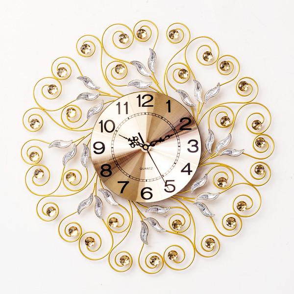 Mur nordique Creative Cristal Horloge murale moderne Accueil Reloj De Pared Simple Mode Salon Sourdine Horloge décorative Quartz
