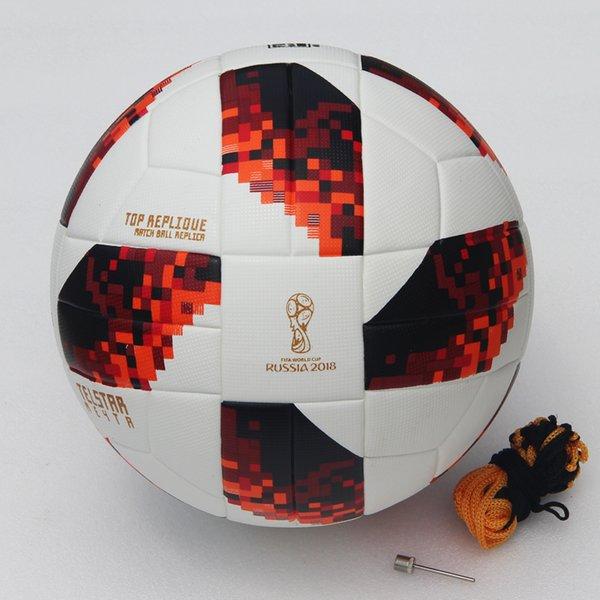 2018 World Cup Soccer Ball Russian Finals Match ball PU top quality seamless paste skin football ball