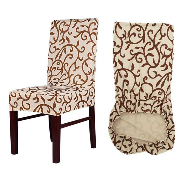 Flower Printing Removable Chair Cover Big Elastic Slipcover Modern Kitchen Seat Case Stretch Chair Cover For Banquet