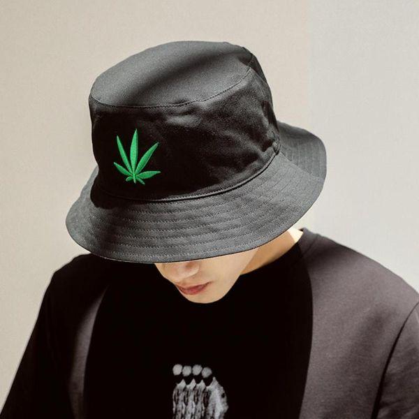 Nuovo arrivo Bucket Hat Uomini ricamo Cap Black Moda estate donne Hip Hop Gorros casual Pesca Cappello Pescatore
