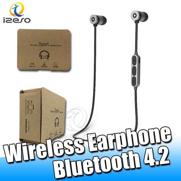 BT W-1 Bluetooth Наушники Магнитные Беспроводные Бег Спортивные Наушники Гарнитура BT 4.2 с Микрофоном MP3 Наушники Для iPhone LG Смартфонов в Коробке