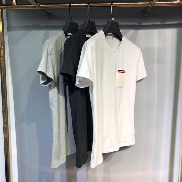 2019 2,19 011 S nouvelle livraison gratuite mode classique de vraies photos de haute qualité à manches courtes hommes 0-cou casual t-shirt taille asiatique m-3xl
