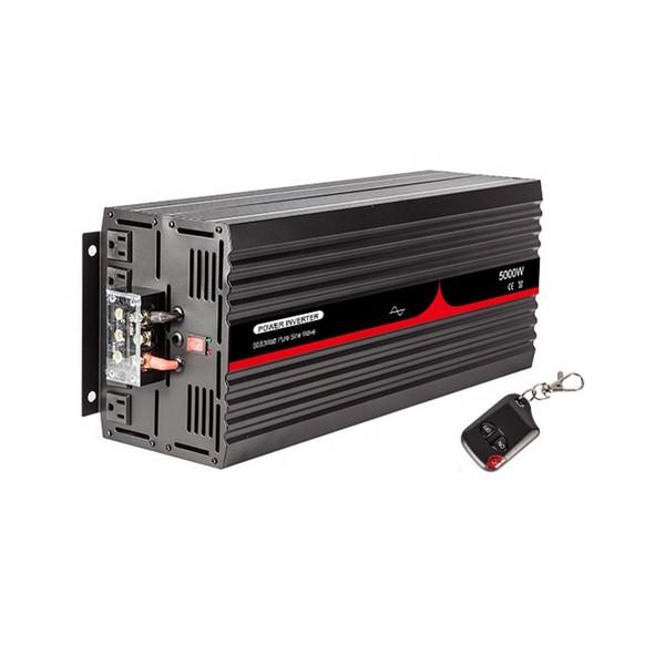 5000W Saf sinüs dalgası güç çevirici ile kablosuz uzaktan 12 V / 24 v için 110 V 60 HZ