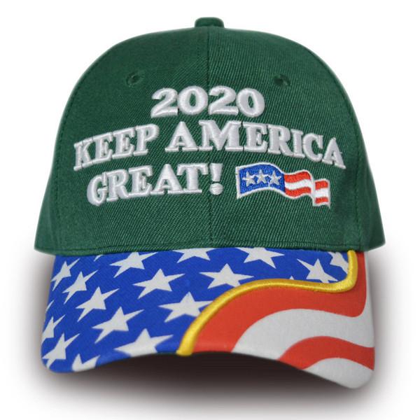 5PCS Gorra de béisbol Donald Trump 2020 Mujeres Hombres Snapbacks de moda Make America Great Again Ball Hats Supporter US Flag Sports Sun Visors C9204
