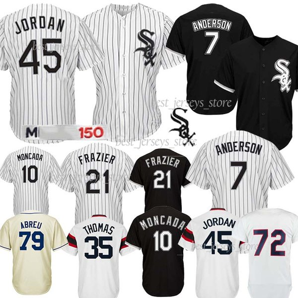 10 Yoan Moncada Chicago White jerseys Sox 79 Jose Abreu 8 Bo Jackson 45 Michael 35 Thomas Baseball Best selling Jersey