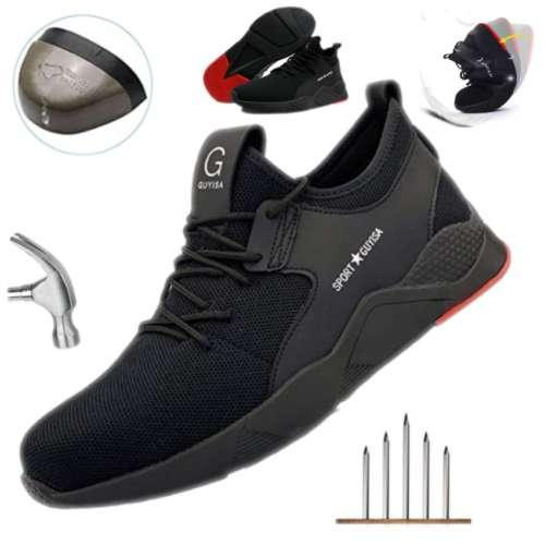 Safety Shoe Women Mens Steel Toe Cap Sport Outdoor Work Hiking Trail Breathable Shoes Protective Footwear Trainers Ankle Boots Non-slip