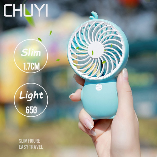 New Hot Sale USB Fan Handy Portable Mini Cooling Fans Cartoon Duck Penguin Built-in Battery Hanging Role Removable Base Two Speed Wind