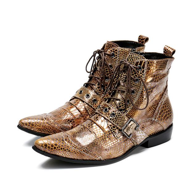 Leder Männer Schuhe Stiefeletten Slipper Spitzschuh Schnürschuhe herren Military Cowboystiefel Strap Cool Side Zip Flats