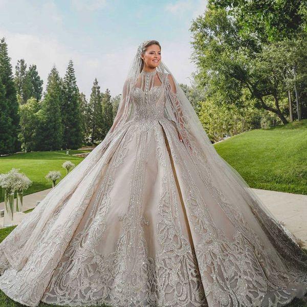 2020 High Quality Luxury Dubai Wedding Dresses Ball Gown Gorgeous