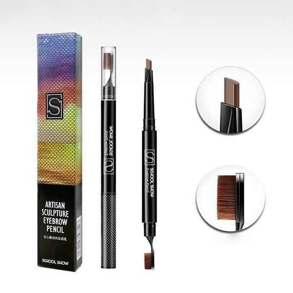 Toothbrush Double Head Automatic Eyebrow Pencil Waterproof Long Lasting Eyebrow Brush Eye Makeup Tools
