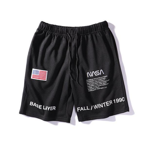 NASA Shorts Hommes Mode Summer Beach Shorts Marée Marque Loisirs Pantalon Court Hommes Nouveau Casual Shorts Streetwear