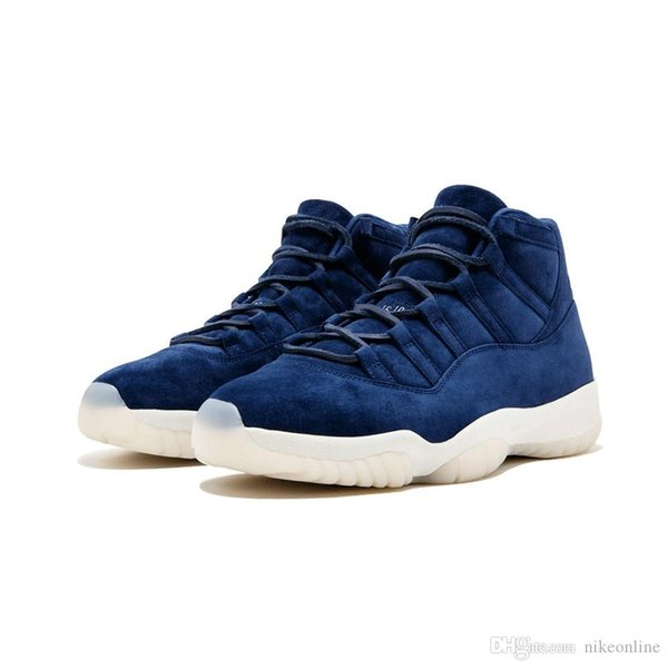 Cheap Mens Jumpman 11 XI basketball shoes Blue Suede Re2pect Dark grey Triple Black Gamma Blue Midnight Navy Wool 11s J11 sneakers with box