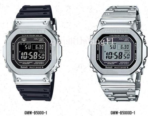 best selling BOX top classic luxury g mens shock men watch waterproof fashion sports relojG-SHOCK light kinetic quartz mens watch GMW-B5000GD &2