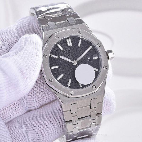 Quarzo Royal Oak 33MM Womens Watches Bracciale in acciaio inossidabile con quadrante bianco con quadrante nero