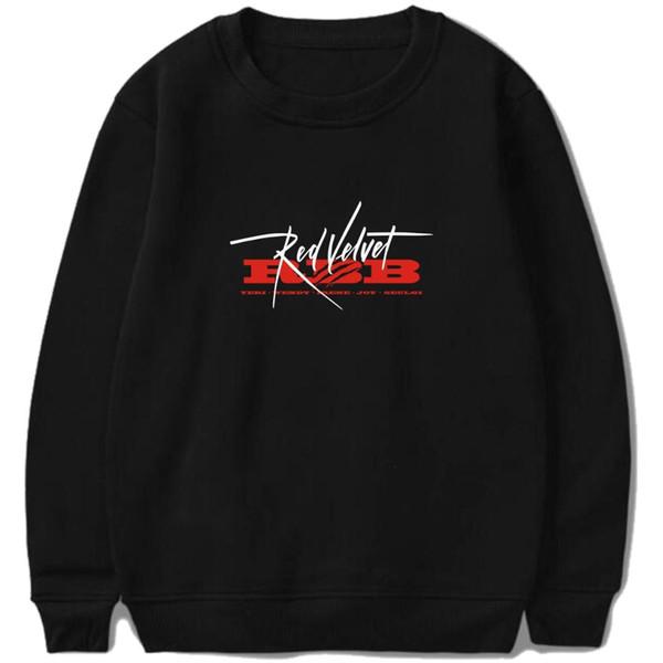 Kpop Красный бархат RBB Moleton Streetwear толстовки пуловер женщины мужчины готический толстовка Harajuku Моды свободные флис друзья топ
