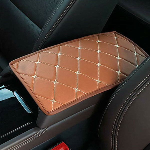 1X PU Leather Car Armrest Pad Car Center Console Arm Rest Seat Box Pads