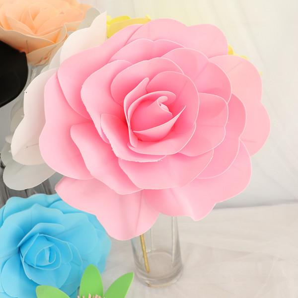 30 cm de espuma gigante rosa artificial flor festa de casamento decoração de flores de decoração para casa artificial decorativo peônia flor grinalda