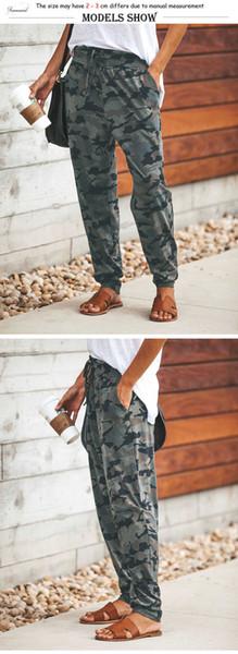 Pantalon Femmes Camouflage Imprimer longue poche Bandage Longueur pleine Pantalon Femme sporwear entraînement Pantalon en vrac Femmes