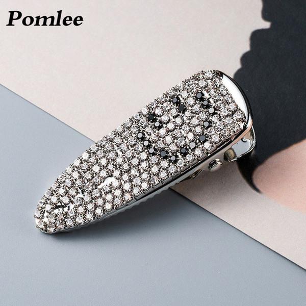Pomlee Shiny Smile Face Glas Haarspangen für Frauen Hochzeit Haarschmuck Korean Haarspange New Design Bohemian Pins Großhandel
