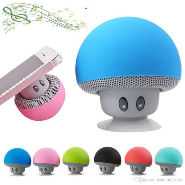 top al por mayor Mushroom Mini altavoz inalámbrico Bluetooth Altavoz Bluetooth estéreo portátil a prueba de agua para teléfono móvil iPhone Xiaomi Computadora