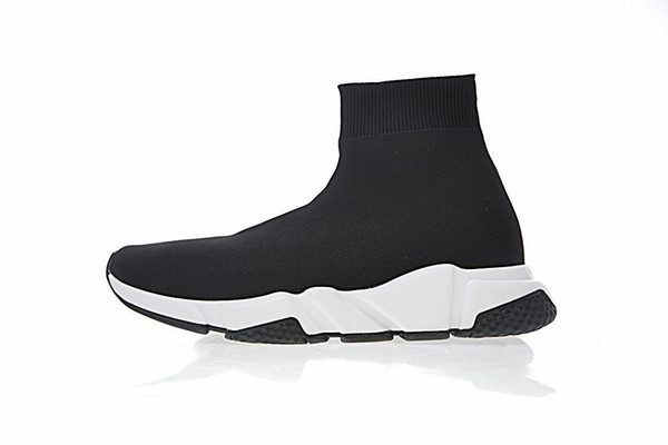 2019 New Designer Sneakers Speed Runner Fashion Shoes Sock Triple Black Boots Red Flat Trainer Men Women Casual Shoes Sport With Dust Bag