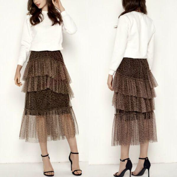 Newest Women High Waist Boho Lace Long Maxi Skirts Lady Summer Casual Beach Sundress Long Skirt