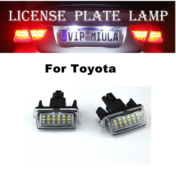 best selling For Toyota Camry YARIS EZ VIOS COROLLA LED License Plate Lamp White Color Car LED Light Accessories Size 61x29x62mm