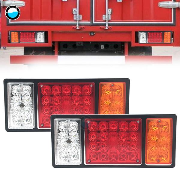 Pair 36 LEDS Trailer Truck LED Tail Light Lamp Yacht Car-Trailer Taillight Truck Trailers Van Reverse Indicator.
