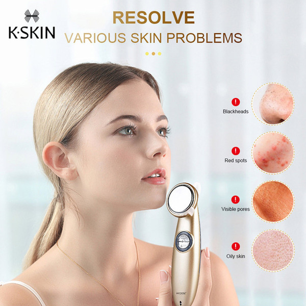 K-SKIN Facial Thermostat Beauty Introduction Instrument Beauty Device Face Cleansing Massager for Women Facial Skin Care KD9930 BB