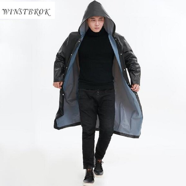 Femmes Pluie À Hommes Homme Long De Acheter Winstbrok Imperméable Capuche Vêtements Poncho KJlF1c