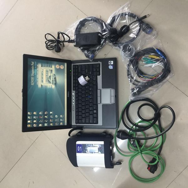 D630 Laptop mit MB Star SD C4 Verbinden Sie 4 Compact Multiplexer und 2019.03 ssd Xentry DAS WIS EPC Alle mit MB Star C4