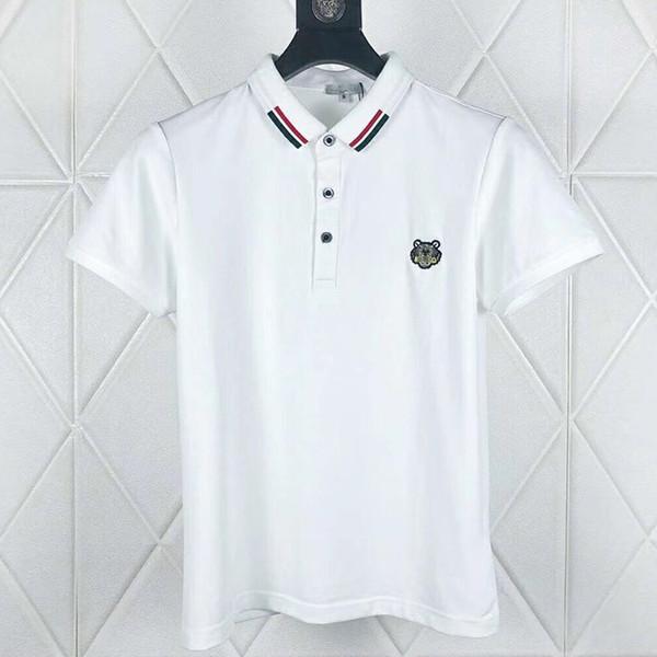 Tigre ricamata Polo camicie da uomo progettista t-shirt di abbigliamento di marca manica corta estate calssic lusso di alta qualità Business casual top tee