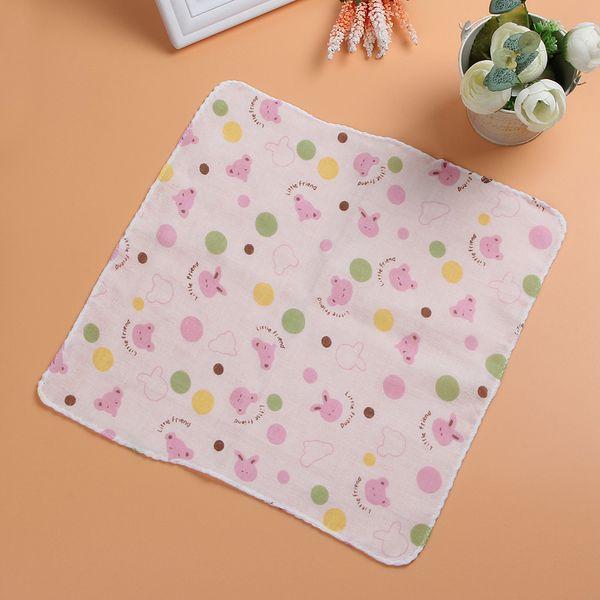 Bebé gasa toalla saliva algodón suministros maternos e infantiles triángulo toalla bebé de alta densidad pequeña bufanda cuadrada 20 toalla pañuelo
