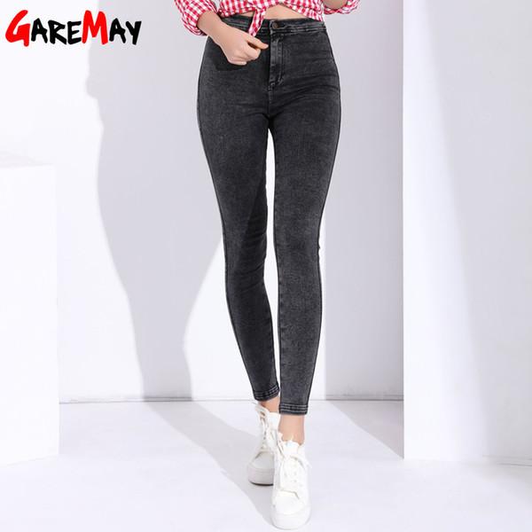 Röhrenjeans Damen Pantalon Femme Denim Hosen Stretch Womens Coloured Tight Jeans Mit Hoher Taille Damen Jeans Hohe Taille T190604