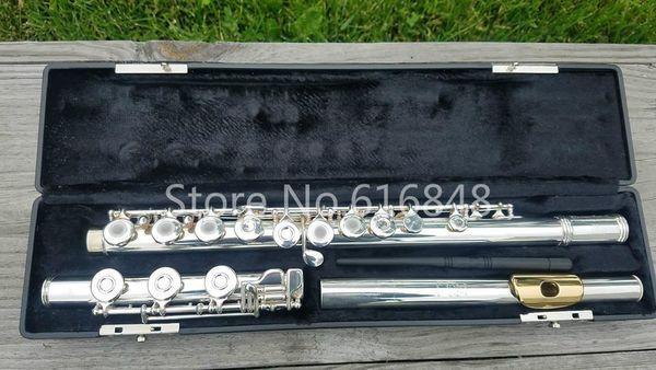 Gemeinhardt M3 Gold Lip 17 Keys Open Hole C Tune Flute Cupronickel Silver Plated Body Flute Musical Instrument Flauta With Case