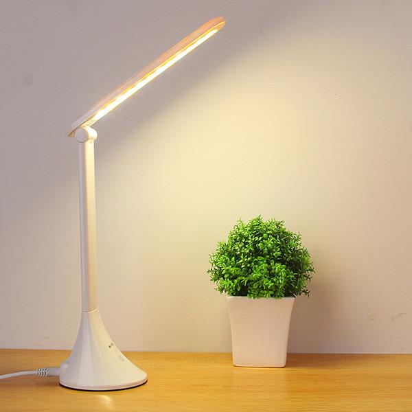 Touch Table Pieghevole Usb Powered Dimming Lampada Led Protezione degli occhi Lettura Studente Scrivania da tavolo Lampe Q190601