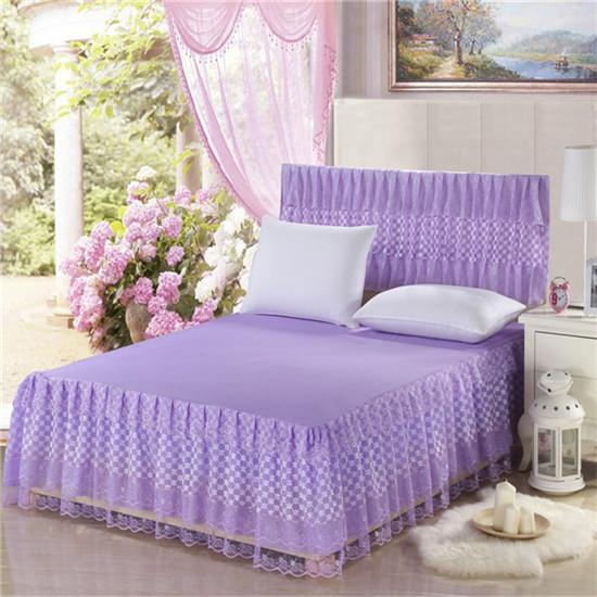 Summer polyester new-selling twin queen/king size lace bed skirt,pink summer nice princess fitted sheet,bed protector bag