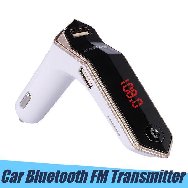S9 Cargador de coche Bluetooth Kit de coche Manos libres Transmisor FM Coche inalámbrico Reproductor de música MP3 Auto modulador de FM Pantalla LCD Cargador USB