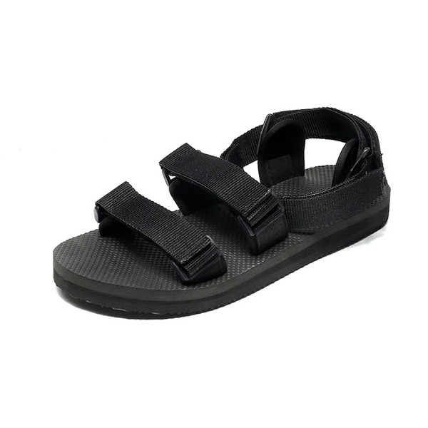 2019 modèles d'explosion estivale de mode pantoufles sauvages de ruban sandales masculines antidérapantes plage mot glisser tendance coréenne