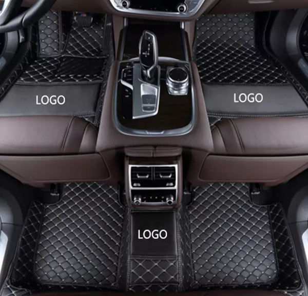 top popular Mercedes-Benz GLK 2008-2017 car anti-slip mat luxury surrounded by waterproof leather wear-resistant car floor mat with logo 2019